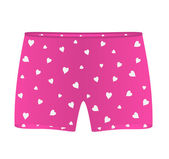 Mens boxer shorts with white hearts — Wektor stockowy
