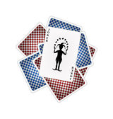 Playing cards and joker — Stock Vector