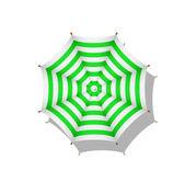 Grünweiß gestreifte sonnenschirm — Stockvektor