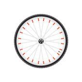 Fahrrad-rad — Stockvektor