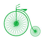 Silhouette of vintage bicycle — ストックベクタ