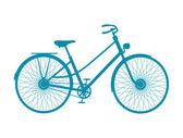 Silhouette di biciclette d'epoca in design blu — Vettoriale Stock