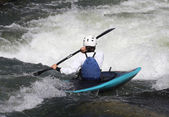 Woman in a kayak — Stock Photo