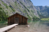 Boathouse at Obersee — Stock Photo