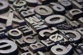 Τυχαία ρύθμιση letterpress μολύβδου επιστολών — Φωτογραφία Αρχείου