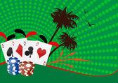 Poker e chip — Vettoriale Stock