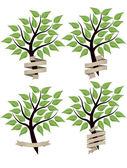 Tree banner — Stock Vector