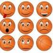 Basketball face — Stock Vector #13539534