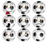 Soccerball face — Stock Vector