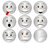 Volleyball face — Stock Vector