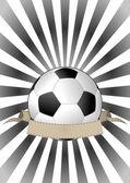 Soccerball banner — Stock Vector