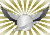 Volleyball wings — Stock Vector