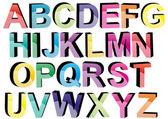 3d colors fonts — Stock Vector