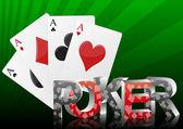 Poker card — Stock Vector