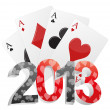 Stock Vector: 2013 poker