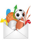 Mail sport — Vettoriale Stock
