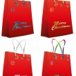Red christmas bag - Stock Vector