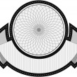Spirograph badge - Stock Vector