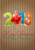 2013 christmas balls — Stock Vector