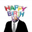 Happy birthday man — Stock Vector