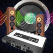 Royalty-Free Stock Vector Image: Audio tape cassette