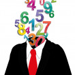 Stock Vector: Numbers businessman
