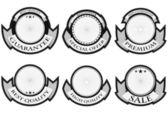 качество значки — Cтоковый вектор