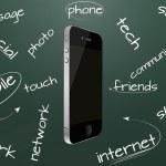 Cellular phone chalkboard — Stock Vector #17644541