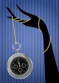 Clock sexy hand — Stock Vector