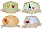 Wine vintage badge — Stock Vector