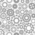Seamless pattern gear — Stock Vector