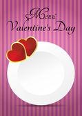 Valentine's day menu — Stock Vector