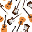 Guitar seamless pattern - Stock Vector