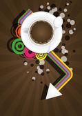 Koffie kleurenafbeelding — Stockvector