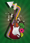Electric guitar — Stock Vector