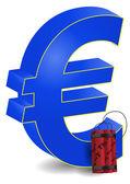Bomb europe — Stock Vector