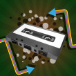 Tape cassette - Imagen vectorial