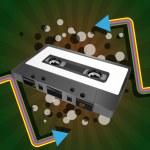 Tape cassette — Stock Vector