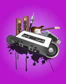 Cassette audio device — Stock Vector