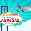 Las vegas and airplane — Stock Vector #25167109