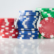 Gambling casino chips — Stock Photo