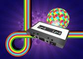 Audiocassette graphic — Stock Vector