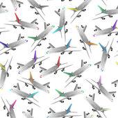 Scalpiccio senza giunte di aereo di linea — Vettoriale Stock
