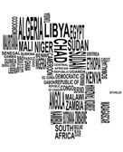 Africa map with country name — Stock Vector