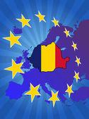 Румыния в Европе — Cтоковый вектор