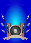 オーディオのリボン — ストックベクタ