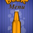Stock Vector: Beer menu