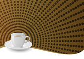Kaffee hintergrund — Stockvektor
