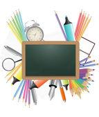 Blank chalkboard — Stock Vector