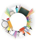 School accessories — Stock Vector